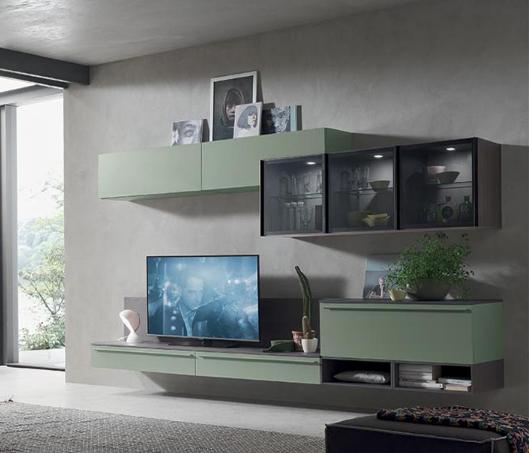 Esposizione madie zona giorno e divani mobili bolognini - Mobile vetrina moderno ...