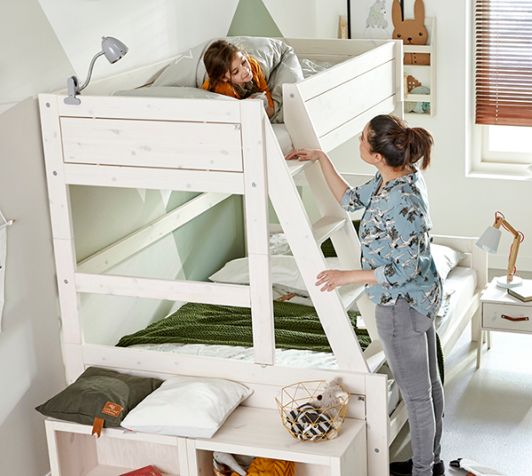 Letto family lifetime letto castello con letto per 3 bimbi - Letto a castello a tre ...