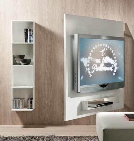 Portatv girevole con pannello attrezzato sul retro - Mobile porta tv girevole design ...