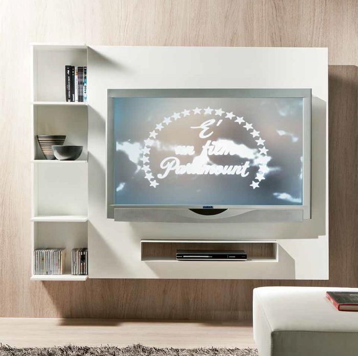 Pannello Porta Tv.Porta Tv Girevole Attrezzato Sul Retro Fino A 55