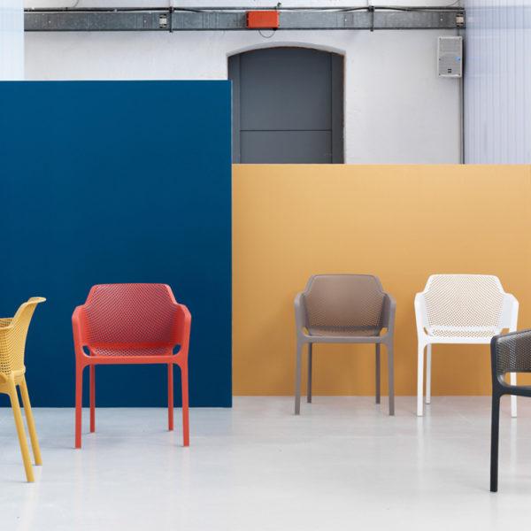 Set tavolo rio 140 estensibile e 6 sedie net nardi for Sedie design tortora