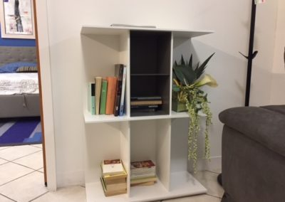 Libreria Division Bianco basso