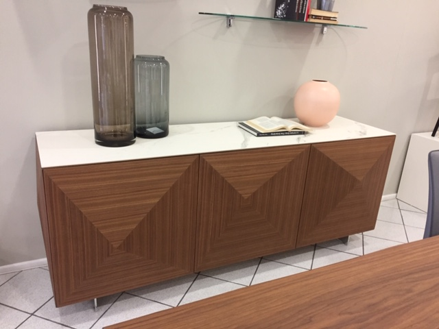 Credenza Moderna Cubric Riflessi : Madia cubric wood riflessi ante legno noce canaletto offerta outlet