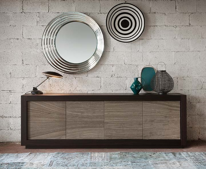 Credenza Moderna Cubric Riflessi : Madia picasso riflessi ante in pietra offerta outlet